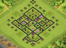 F-22 Raptor TH 8 Clash of Clans Base Layout