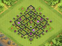 Nightmare ^^ TH 8 Clash of Clans Base Layout