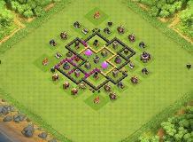 Farming Base TH 6 Clash of Clans Base Layout