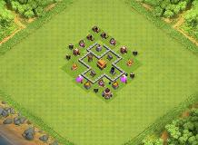 th3 defence base TH 3 Clash of Clans Base Layout