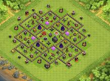 th9-2 TH 9 Clash of Clans Base Layout