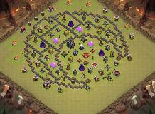 war base TH 9 Clash of Clans Base Layout