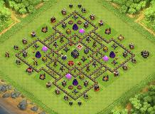 mohamad TH 9 Clash of Clans Base Layout