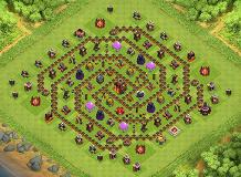 TH10 Hybrid Spiral TH 10 Clash of Clans Base Layout