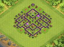 TH7 100% full service TH 7 Clash of Clans Base Layout