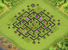 TH8 100% full service honey TH 8 Clash of Clans Base Layout