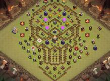 troll caveira TH 11 Clash of Clans Base Layout