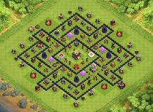 cubicism TH 11 Clash of Clans Base Layout