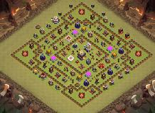 Defense1 TH 11 Clash of Clans Base Layout