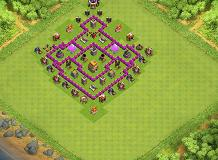 Terrific TH6 Hybrid Base TH 6 Clash of Clans Base Layout
