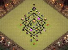 War base TH 5 Clash of Clans Base Layout