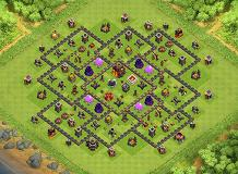 Th10 Hybrid TH 10 Clash of Clans Base Layout