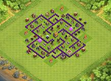 TH7 100% full labyrinth TH 7 Clash of Clans Base Layout