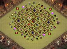 georges TH 10 Clash of Clans Base Layout