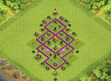 th6 perfect base TH 6 Clash of Clans Base Layout