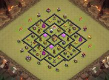 th8 collins TH 8 Clash of Clans Base Layout