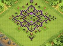 Farming Flower TH 7 Clash of Clans Base Layout