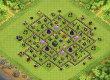 Th9 Base no1 TH 9 Clash of Clans Base Layout