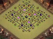 regr TH 9 Clash of Clans Base Layout