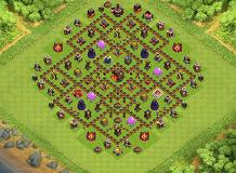 HELIX LAYOUT TH 10 Clash of Clans Base Layout
