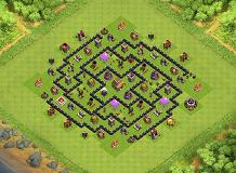 TH8 100% full service hard defence TH 8 Clash of Clans Base Layout