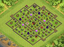 crazyjy27 TH 10 Clash of Clans Base Layout