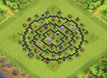 Squaring the Circle TH 8 Clash of Clans Base Layout