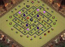 war1 TH 9 Clash of Clans Base Layout
