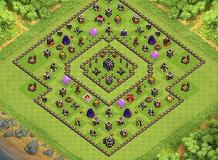 Th9 Trophy Base TH 9 Clash of Clans Base Layout