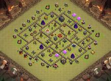 TH9 War Base TH 9 Clash of Clans Base Layout