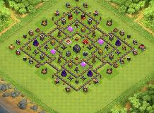 Lv9 TH 9 Clash of Clans Base Layout