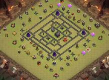 1 star War TH 9 Clash of Clans Base Layout
