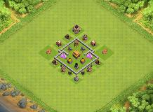 TH3 Defense Base TH 3 Clash of Clans Base Layout