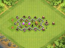 TH 4 Defense TH 4 Clash of Clans Base Layout