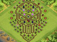 Defense TH 10 Clash of Clans Base Layout