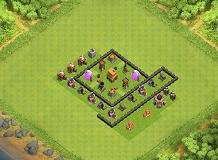 Town hall 4 TH 4 Clash of Clans Base Layout