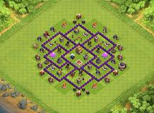 Buceta TH 7 Clash of Clans Base Layout