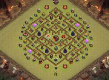 tib BOOMM TH 10 Clash of Clans Base Layout