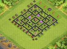 Fddgg TH 8 Clash of Clans Base Layout