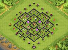 clash of clans th8 farming base dark elixer protection TH 8 Clash of Clans Base Layout