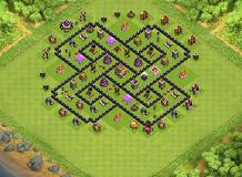 rideep TH 8 Clash of Clans Base Layout