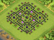 Th 9 Hybrid base TH 9 Clash of Clans Base Layout