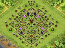 unbreakable TH 10 Clash of Clans Base Layout