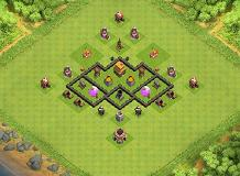TH 4 TH 4 Clash of Clans Base Layout