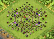 gost rider TH 9 Clash of Clans Base Layout