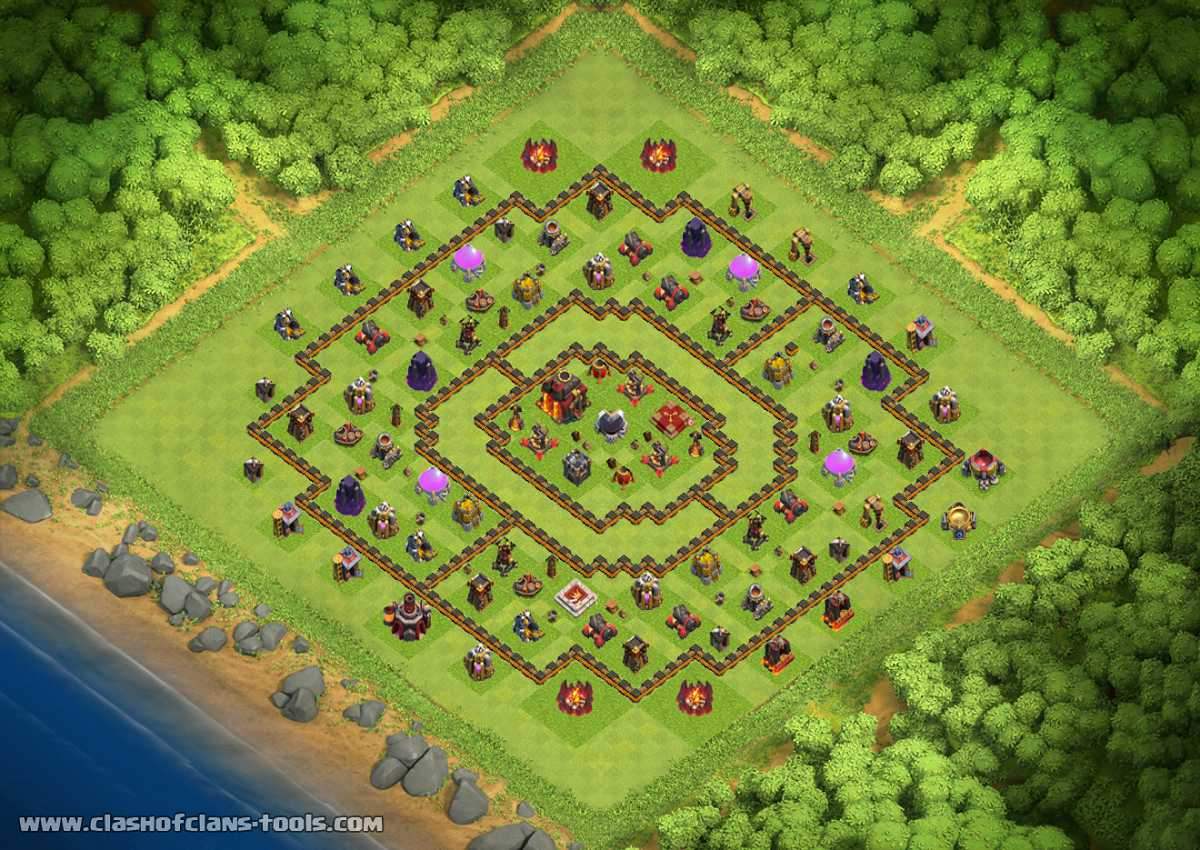 th10 anti 2star - TH10 Trophies Base by DXETEXD | Clash of