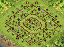 th10 anti 2star TH 10 Clash of Clans Base Layout