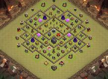 Hhjj TH 9 Clash of Clans Base Layout