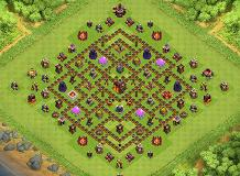 Defense 037 TH 10 Clash of Clans Base Layout