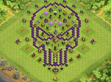 coc bases TH 8 Clash of Clans Base Layout